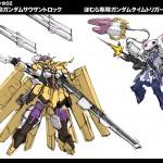 Mami as Gundam Zabanya and Homura as Raphael Gundam