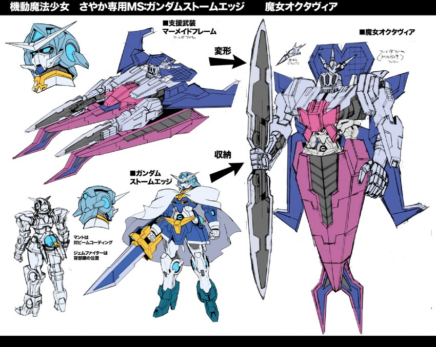 Sakuya as Gundam Exia and Octavia as GN Arms