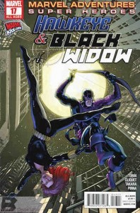 The original cover that Hoursago's parody was based on -- yep, I don't think that's a great way to jump down, Black Widow