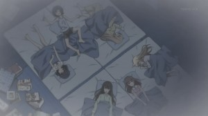 A Minami sleepover with all of Chiaki's friends, though this is supposed to be a kind of hotel stay?