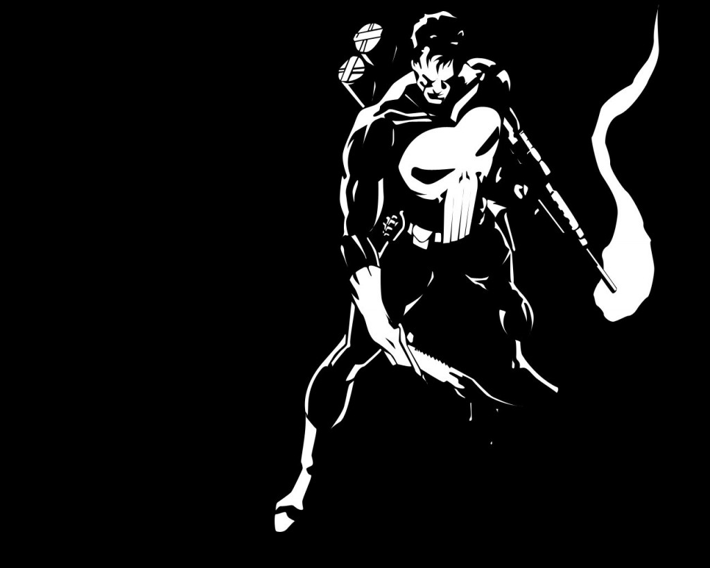 punisher-in-black-and-white