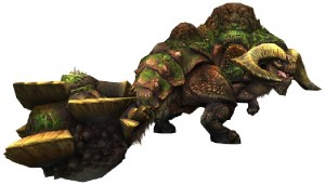 The Duramboros, a crazy kind of bull or ankylosaurus or something.
