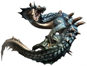 The Lagiacrus, one of the more iconic monsters. As you can see from the 3 images, monster design in this game is quite unique and varied.