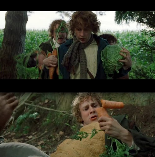Merry and Pippin up to no good