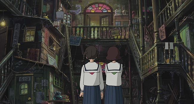 Because only Ghibli can make rundown dumps look this amazingly detailed.