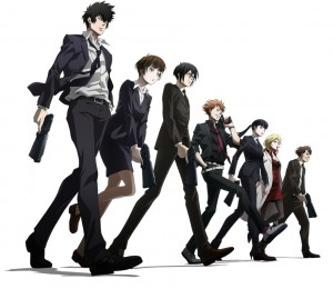 The cast of Psycho-Pass.