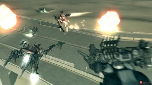 A shot of some of the mech on mech action
