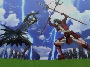 Basara anime Masamune vs Yukimura