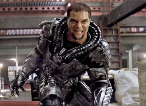 Michael Shannon as General Zod, the main antagonist in the film.
