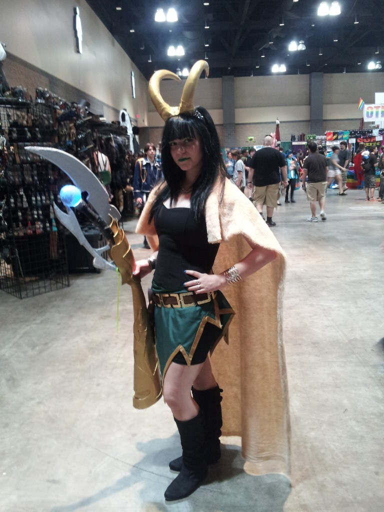 A great female Loki cosplayer I met on Sunday.