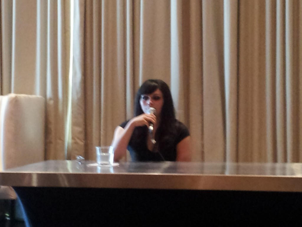 Voice actress Lauren Landa at Friday's Press Junket.