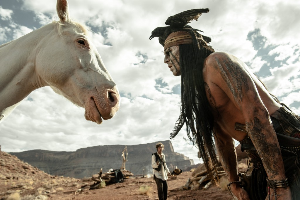 Not even the original Tonto spoke to the horse. You have to be kidding me.