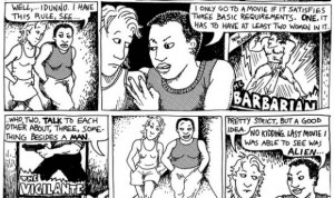 The Bechdel test's origin as a comic strip - although Alien may be a bit of a stretch