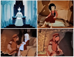 The rich female cast as depicted in Russia's classic Snow Queen animation -- which, by the by, inspired people like Hayao Miyazaki