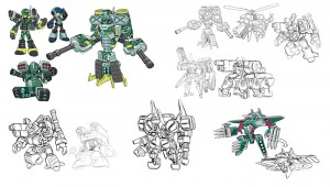 Mighty No. 9 assorted concepts