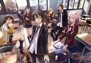Guilty Crown Ouma Shu and crew