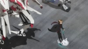 Guilty Crown Shu on a segway