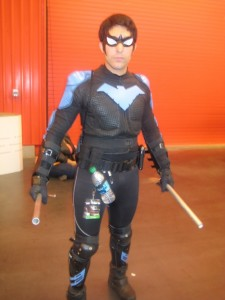 A friend of mine from all the way back in elementary school sporting his Nightwing cosplay!