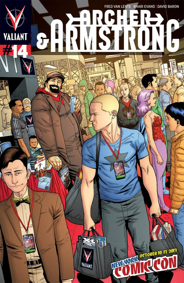 Sadly, Archer and Armstrong don't go to New York Comic Con in this issue. But, for those going, you can get this issue with the above cover there!