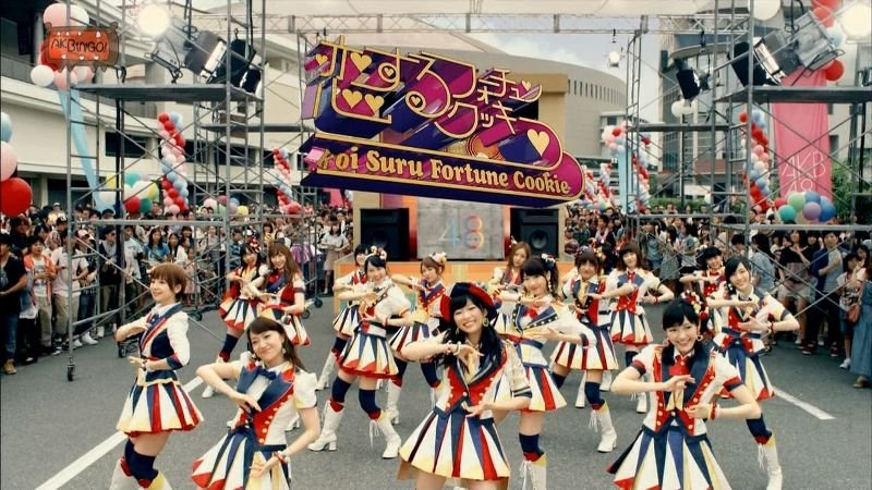 Is this an ole-timey parade or a music video for a premiere J-pop group?