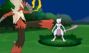 Mega Blaziken vs Mewtwo