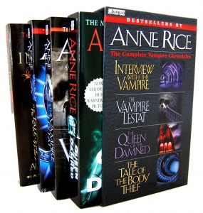 "Anne Rice and her work is pretty much ""no touch"" for fanfic writers--or at least, ""no publish"""