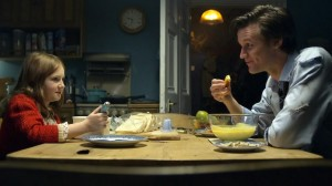 Matt Smith eats fish fingers