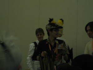 "The man himself! At the ""Gaming with ZUN"" panel."