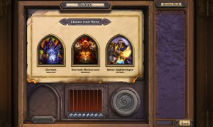 Hearthstone Arena draft