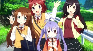 The cast. From left to right, Komari, Natsumi, Renge, and Hotaru.