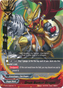 Buddyfight Drum Bunker Dragon
