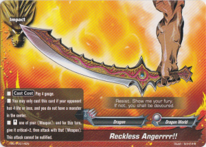 Buddyfight Reckless Angerrrr!!