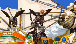 Maple Story Balrog attack on ship