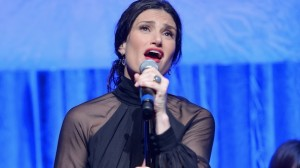 "Idina Menzel ""let it go"" at the Oscars following Frozen's sweeping win of Best Animated Feature and Best Original Song"