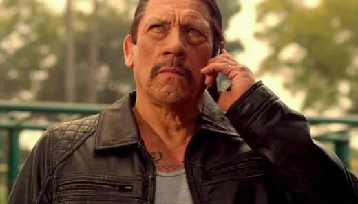 Unfortunately he's not calling his twin brother Machete for help.