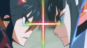 Kill la Kill Ryuuko and Satsuki face off