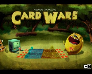 Adventure Time Card Wars title card