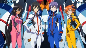 The characters, from the left to right, Hana, Daichi, Teppei, Akari