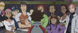 Eureka Seven - Renton about to be hazed