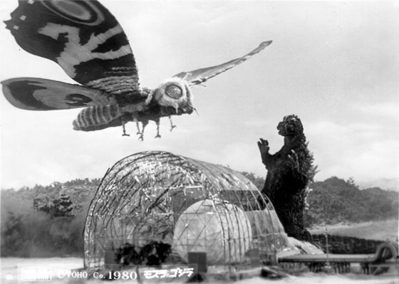 Hell, Mothra is an even better metaphor since it actually flies.