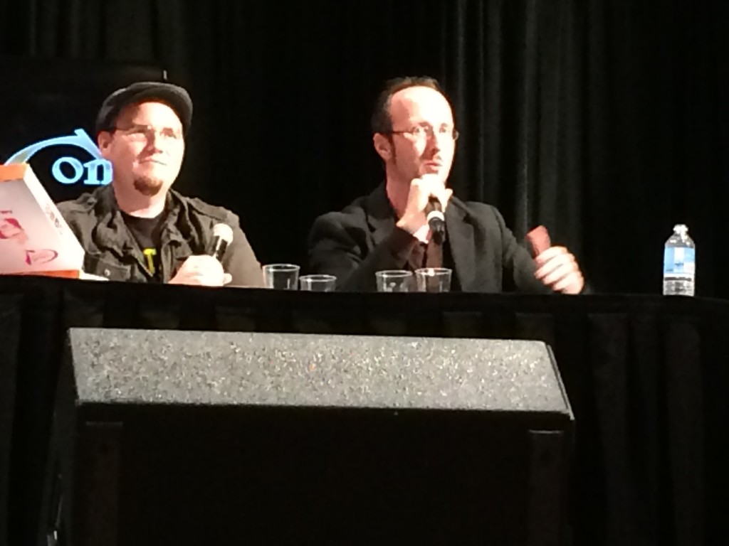 Rob and Doug Walker at their panel.