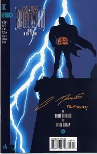 The cover to issue #3, an homage to Frank Miller's The Dark Knight Returns.