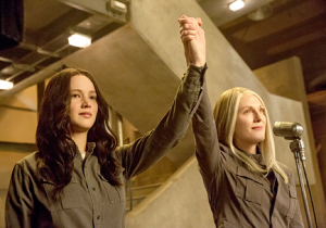"""Katniss."" ""President Coin?"" ""Love me!"""