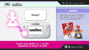 Amiibo scan menu