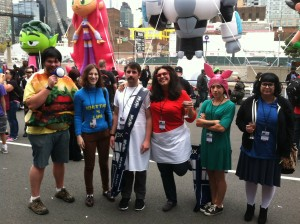 Seen here with the best Bob's Burger's group we could find.
