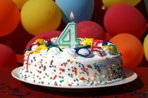 4th birthday cake