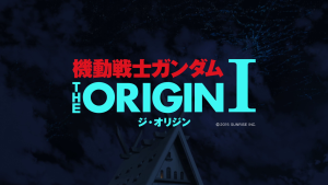 Gundam the Origin 1 Title Screen