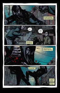 The Black Hood #2 fist fight