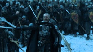 """Alright, men - according to the accountants, after Hardhome and the dragon action last week, this shot is the most we can afford for this battle. SO MAKE IT COUNT!"""
