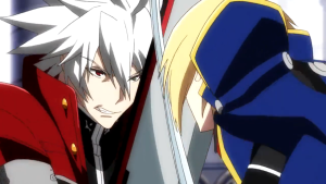 BlazBlue anime Ragna vs Jin